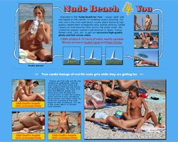 Nude beach shots collection