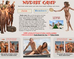 Charming girl from nudist camp